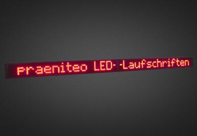 Einzeilige LED Laufschrift für den Außenbereich PELO8-160-10R