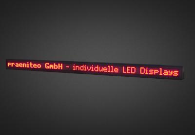 Einzeilige LED Laufschrift für den Außenbereich PELO8-240-6R