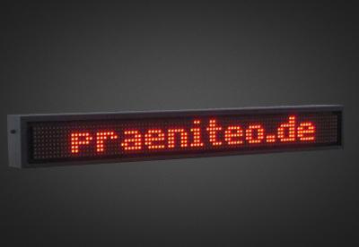 Einzeilige LED Laufschrift für den Außenbereich PELO8-96-7R