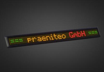 Einzeilige LED Laufschrift für den Innenbereich PFLI7-X-4