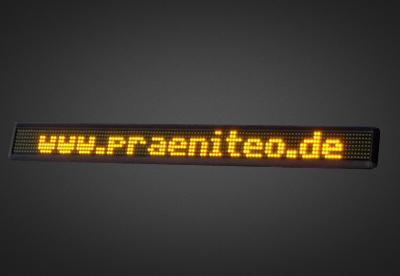 Einzeilige LED Laufschrift für den Schaufensterbereich PFLS7-120-4A