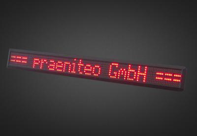 Einzeilige LED Laufschrift für den Schaufensterbereich PFLS7-120-4R