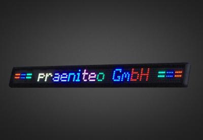 Einzeilige LED Laufschrift für den Schaufensterbereich PFLS7-120-4V
