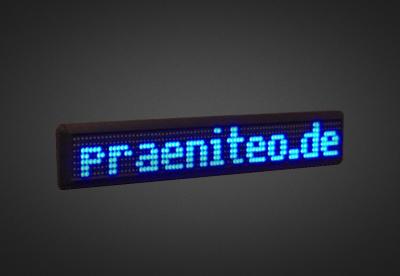 Einzeilige LED Laufschrift für den Schaufensterbereich PFLS7-80-4B