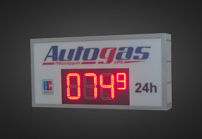 LED Benzinpreisanzeigen PNO1-4-17R_Autogas