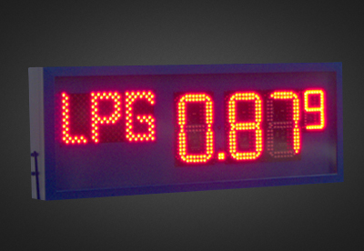 LED Benzinpreisanzeigen PNO1-4-17R_BP