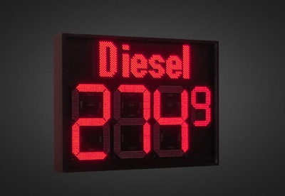 LED Benzinpreisanzeigen PNO2D-4-50R