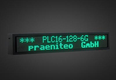 Mehrzeilige LED Laufschrift für den Außenbereich PLC16-128-6G-2