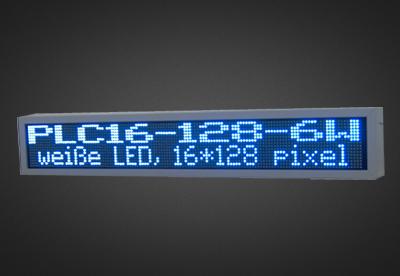 Mehrzeilige LED Laufschrift für den Außenbereich PLC16-128-6W