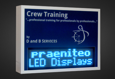 Mehrzeilige LED Laufschrift für den Außenbereich PLC16-64-6W_SB