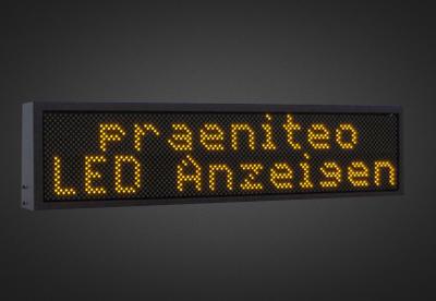 Mehrzeilige LED Laufschrift für den Außenbereich PELO16-80-8A
