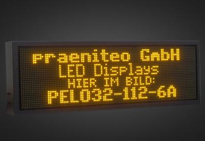 Mehrzeilige LED Laufschrift für den Außenbereich PPELO32-112-6A