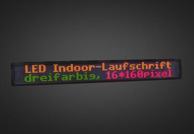 Mehrzeilige LED Laufschrift für den Innenbereich PFLI16-160-4D