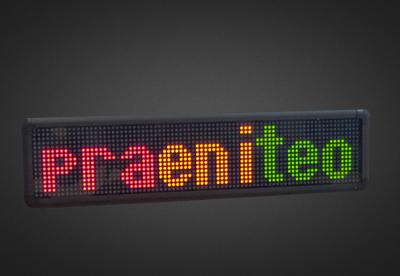 Mehrzeilige LED Laufschrift für den Innenbereich PFLI16-80-7D