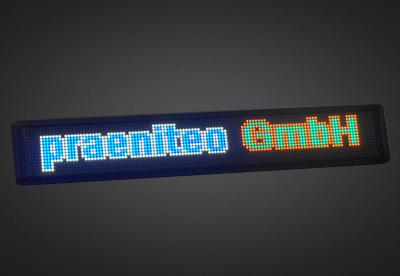 Mehrzeilige LED Laufschrift für den Schaufensterbereich PFLS16-120-4V