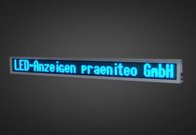 Mehrzeilige LED Laufschrift-für denSchaufensterbereich PFLS16-240-4B