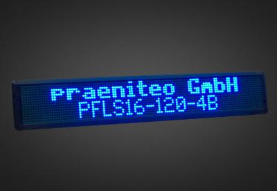 Mehrzeilige LED Laufschrift fuer den Schaufensterbereich PFLS16-X-4