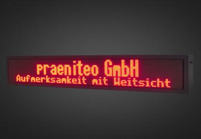 Mehrzeilige LED Laufschrift für den Schaufensterbereich PFLS24-200-4R