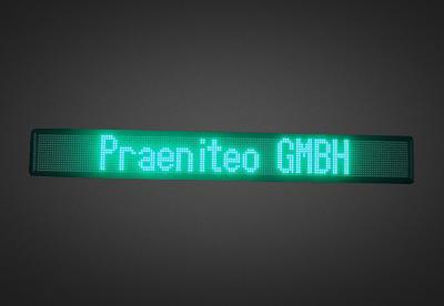 Mehrzeilige LED Laufschrift für den Schaufensterbereich PFLS7-160-4G