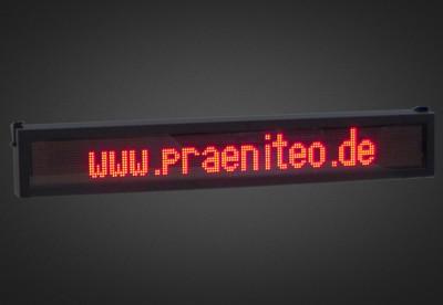 Mehrzeilige LED Laufschrift für den Schaufensterbereich