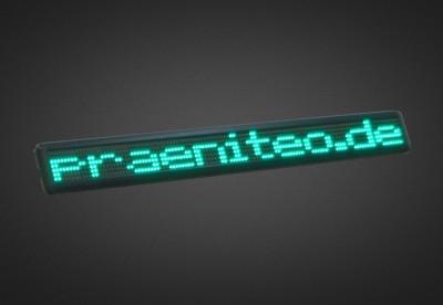 Einzeilige LED Laufschrift für den Schaufensterbereich