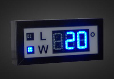 Uhren- und Temperaturanzeigen PTO1-3-10B_2T