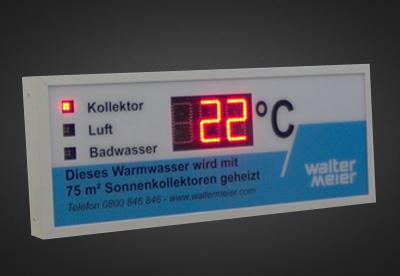 Uhren- und Temperaturanzeigen PTO1-3-14R-3T
