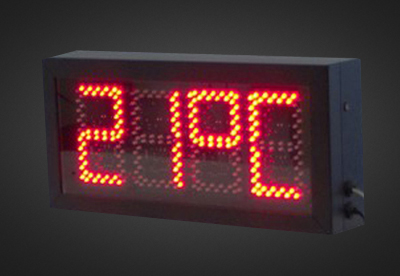 Uhren- und Temperaturanzeigen PTO1-4-14R-T
