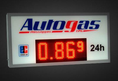 LED Benzinpreisanzeigen PNC16-64-6R_Autogas
